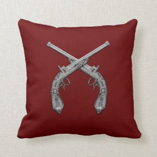 Armas antigas de duelo almofada