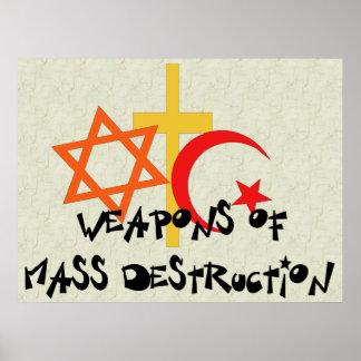 Armas de destruição maciça pôsteres