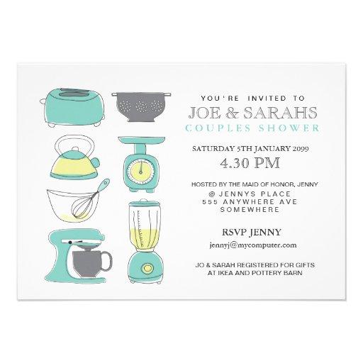 Armazene os casais da cozinha o partido de chá que convites