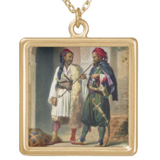 Arnaout e soldados Osmanli em Alexandria, illust Colar Personalizado
