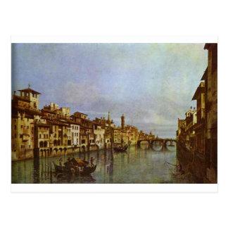 Arno em Florença por Bernardo Bellotto Cartão Postal