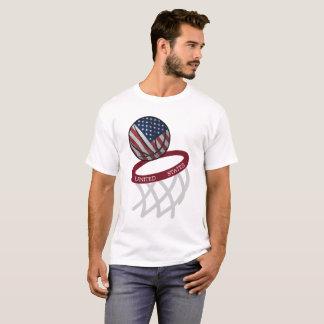 Aro de basquetebol da bandeira dos Estados Unidos T-shirt