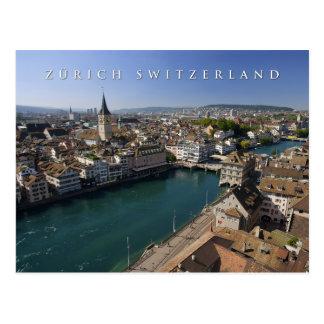 arquitectura da cidade da suiça de Zurique Cartão Postal