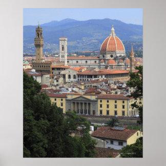 Arquitectura da cidade de Florença Poster