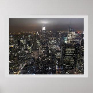 Arquitectura da cidade do poster de New York Manha