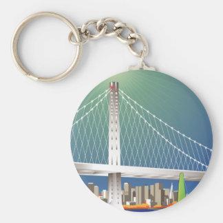 Arquitectura da cidade nova da ponte da baía de chaveiro