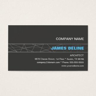 Arquiteto azul cinzento minimalista cartão de visitas
