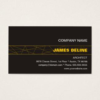 Arquiteto cinzento escuro minimalista do ouro cartão de visitas