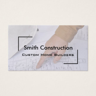 Arquiteto e cartão de visita dos planos