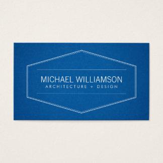 Arquiteto moderno do modelo do emblema do vintage, cartão de visitas
