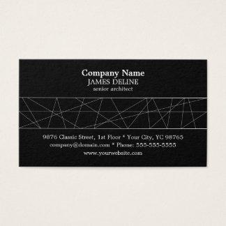 Arquiteto preto e branco clássico cartão de visitas