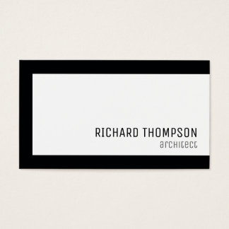 arquiteto profissional, beira preta, mínima cartão de visitas