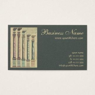 Arquitetura do vintage, as 5 ordens cartão de visitas