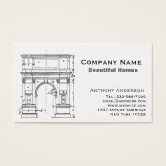 Arquitetura e construcction cartão de visitas