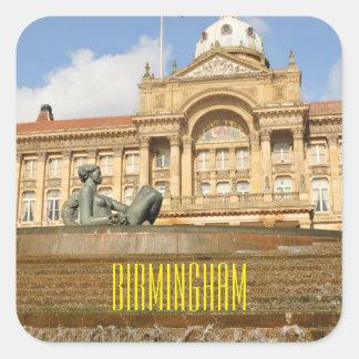 Arquitetura em Birmingham, Inglaterra Adesivo Quadrado