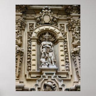 Arquitetura histórica de San Diego Poster