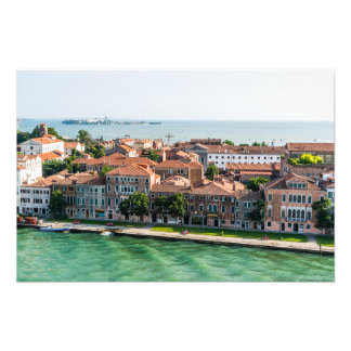 Arquitetura mediterrânea do cruzeiro de Veneza Impressão De Foto
