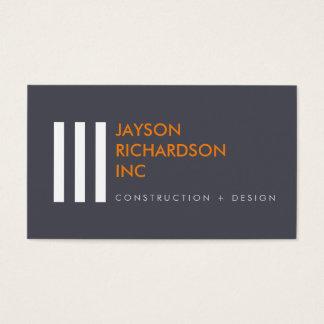 Arquitetura moderna simples, construção, design 2 cartão de visitas