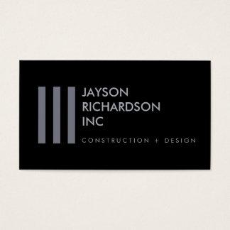 Arquitetura moderna simples, construção, design 5 cartão de visitas