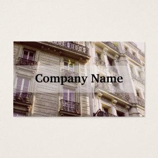 Arquitetura parisiense, fotografia Pastel Cartão De Visitas