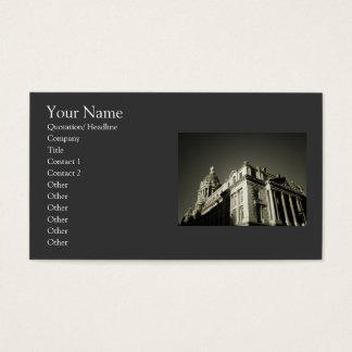 Arquitetura refinada elegante cartão de visitas