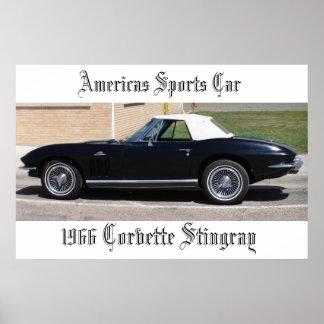 Arraia-lixa dos esportes Car-1966 Corveta de Ameri Impressão
