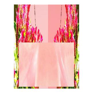 Arranjos florais cor-de-rosa flyer 21.59 x 27.94cm