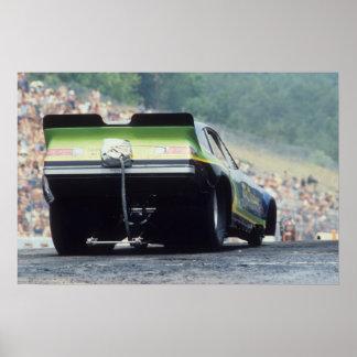 Arrasto do vintage - carro engraçado de Monza Poster