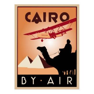 Art deco do viagem de Egipto do vintage Cartão Postal