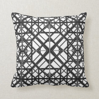 Art deco preto e branco travesseiros de decoração