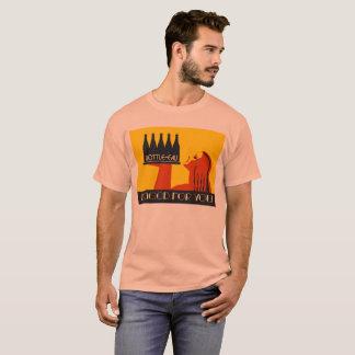 art deco retro do estilo Garrafa-eau Tshirts