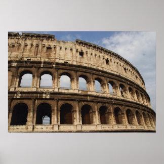 Art. romano. O Colosseum ou o Flavian 2 Poster