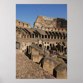 Art. romano. O Colosseum ou o Flavian Poster