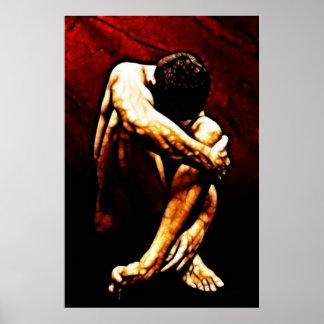 Arte 3 do homem do Fractal Poster