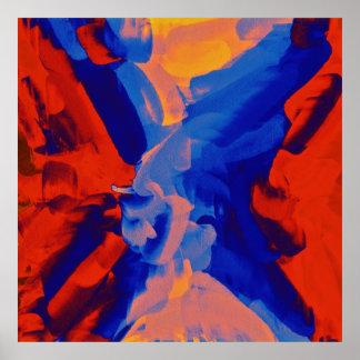 Arte abstracta abstrata 10 da pintura | poster