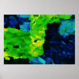 Arte abstracta abstrata 14 da pintura | poster