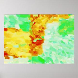 Arte abstracta abstrata 18 da pintura | poster