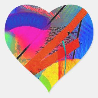 Arte abstracta adesivo coração