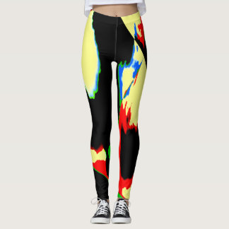 Arte abstracta amarela Legging OriginalFashion do