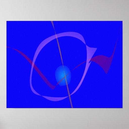 Arte abstracta azul do Cygnus Pôsteres