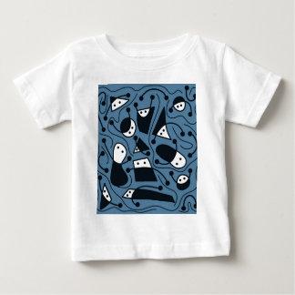 Arte abstracta brincalhão - azul tshirt