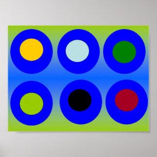Arte abstracta - círculos dentro dos círculos poster
