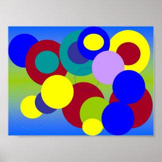 Arte abstracta - círculos entre nuvens poster