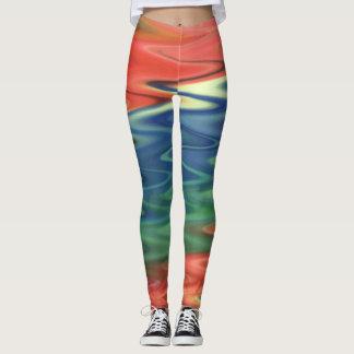 Arte abstracta colorida Legging