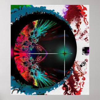 Arte abstracta colorida poster