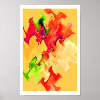 Arte abstracta considerável em cores da fruta & do poster