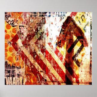 arte abstracta da degradação urbana poster