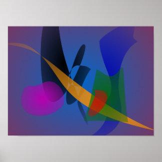 Arte abstracta da emoção pôsteres