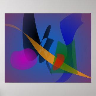 Arte abstracta da emoção posteres