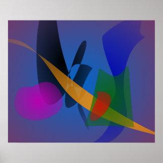Arte abstracta da emoção posters
